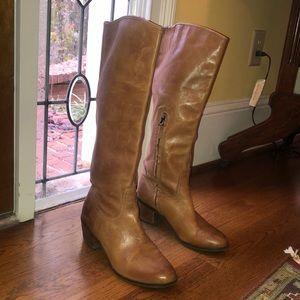 Sam Edelman Cognac Leather Boots